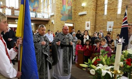 Ukrainians in Australia prayed for the victims from Malaysia Airlines crashed in Ukraine