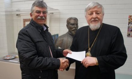 Donation of $5500 to our Eparchy