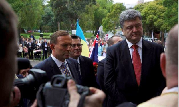 Ukrainian President Petro Poroshenko has arrived in Australia for a state visit