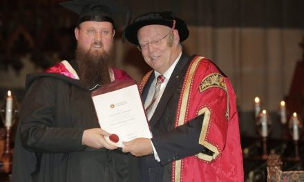 Deacon Justin McDonnell was awarded the degree of Master of Theological Studies
