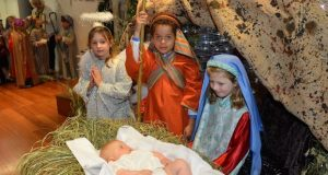 Students performing a Christmas Nativity Play