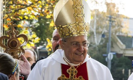 Cardinal Sandri visited St. Peter and Paul's Cathedral in Melbourne