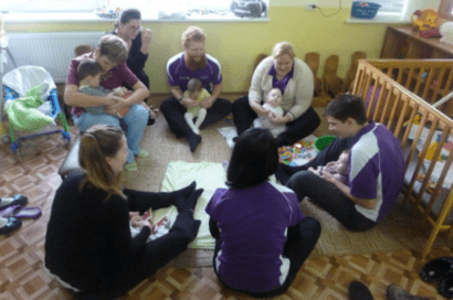 Curtin University students in Kharhiv Babies home