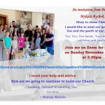 Invitation from Bishop Mykola